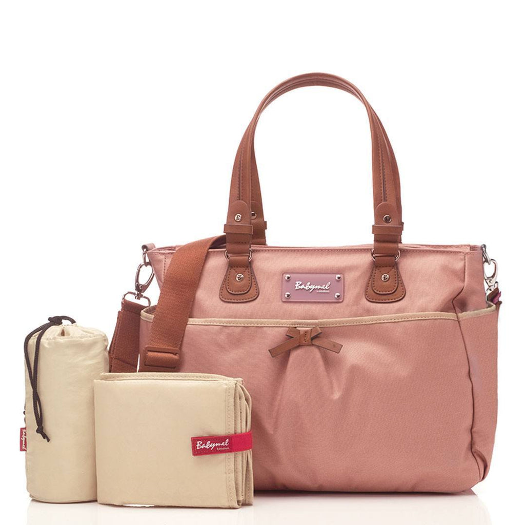 Changing Bags - Babymel Changing Bag - Lily - Oyster
