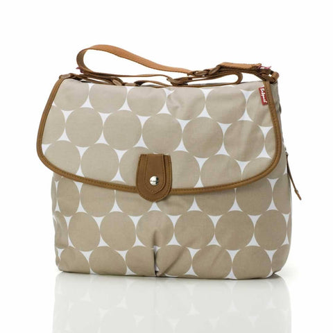 Babymel Changing Bag - Satchel - Jumbo Dot Fawn - Changing Bags - Natural Baby Shower