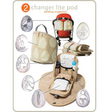 PacaPod Changing Bag - Hastings - Driftwood - Changing Bags - Natural Baby Shower