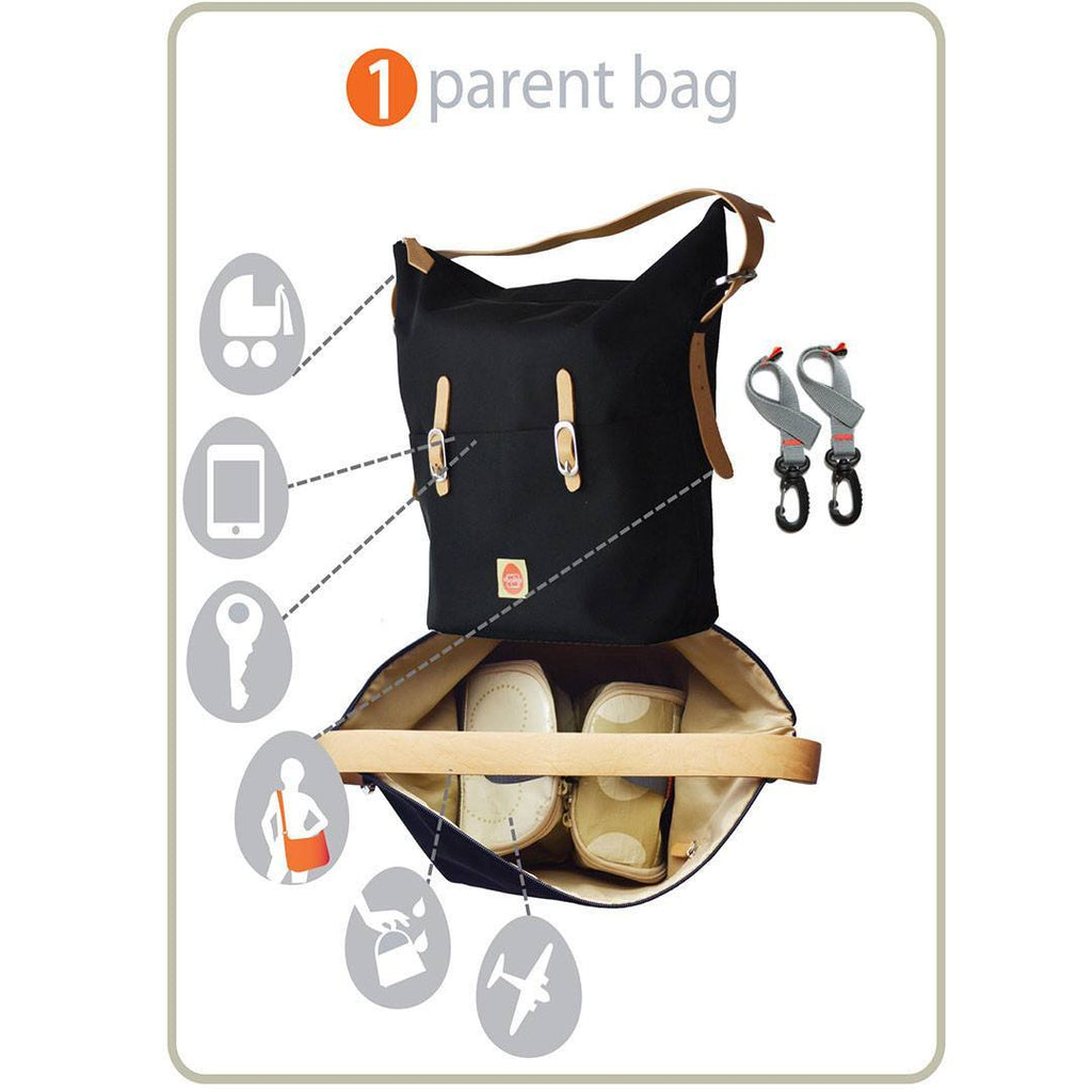 PacaPod Changing Bag - Idaho - Black - Changing Bags - Natural Baby Shower