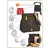 PacaPod Changing Bag - Oban - Elephant - Changing Bags - Natural Baby Shower