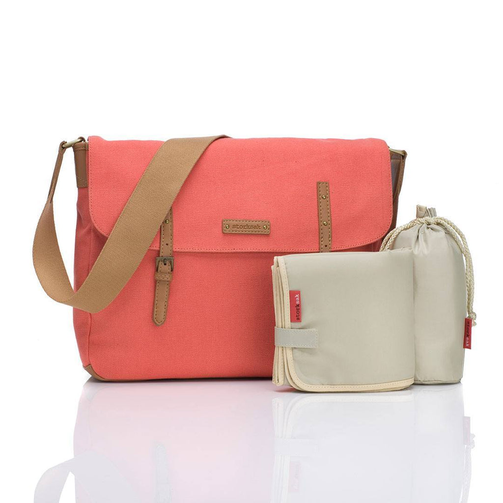 Storksak Changing Bag - Ashley - Coral-Changing Bags-Default- Natural Baby Shower