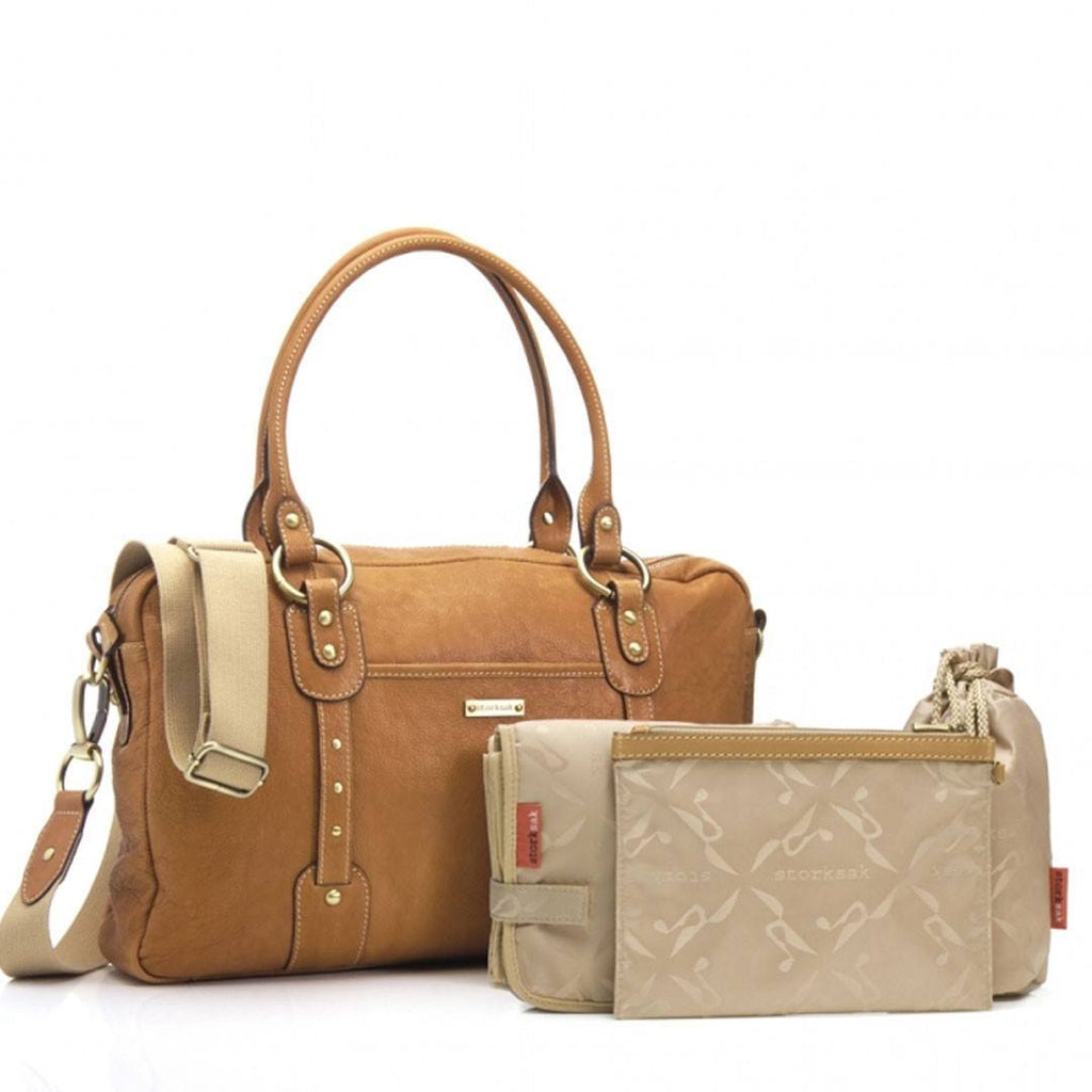 Changing Bags - Storksak Changing Bag - Elizabeth - Tan