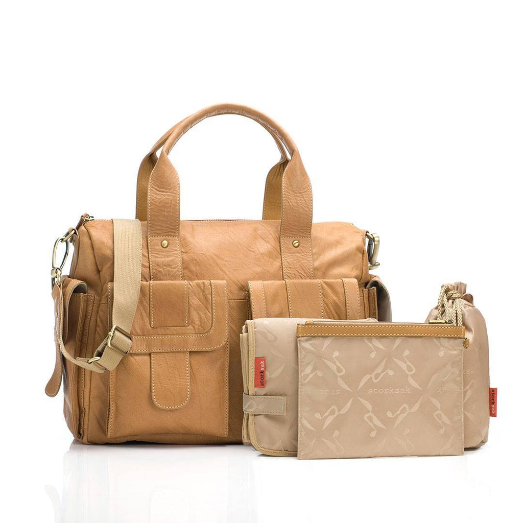 Changing Bags - Storksak Changing Bag - Sofia - Tan