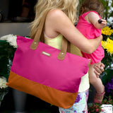 Changing Bags - Storksak Changing Bag - Tote - Fuchsia/Orange