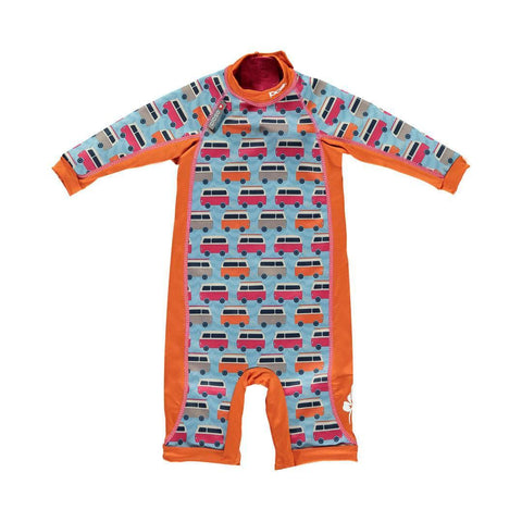 Close Pop-in Toddler Snug Suit - Campervan Blue
