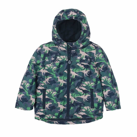 Frugi Adventure Print Coat - Dino Camo - Coats & Snowsuits - Natural Baby Shower