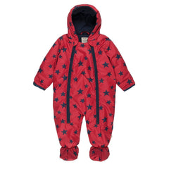 Coats & Snowsuits - Frugi Billie Pram Suit - Fire Engine Stars
