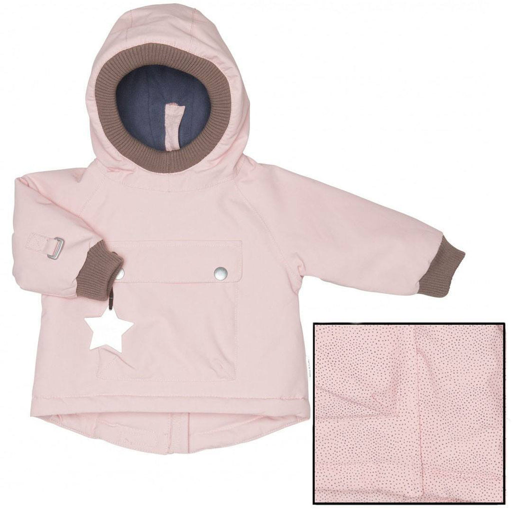 MINI A TURE Baby Wen Jacket - Misty Rose Pindot - Coats & Snowsuits - Natural Baby Shower