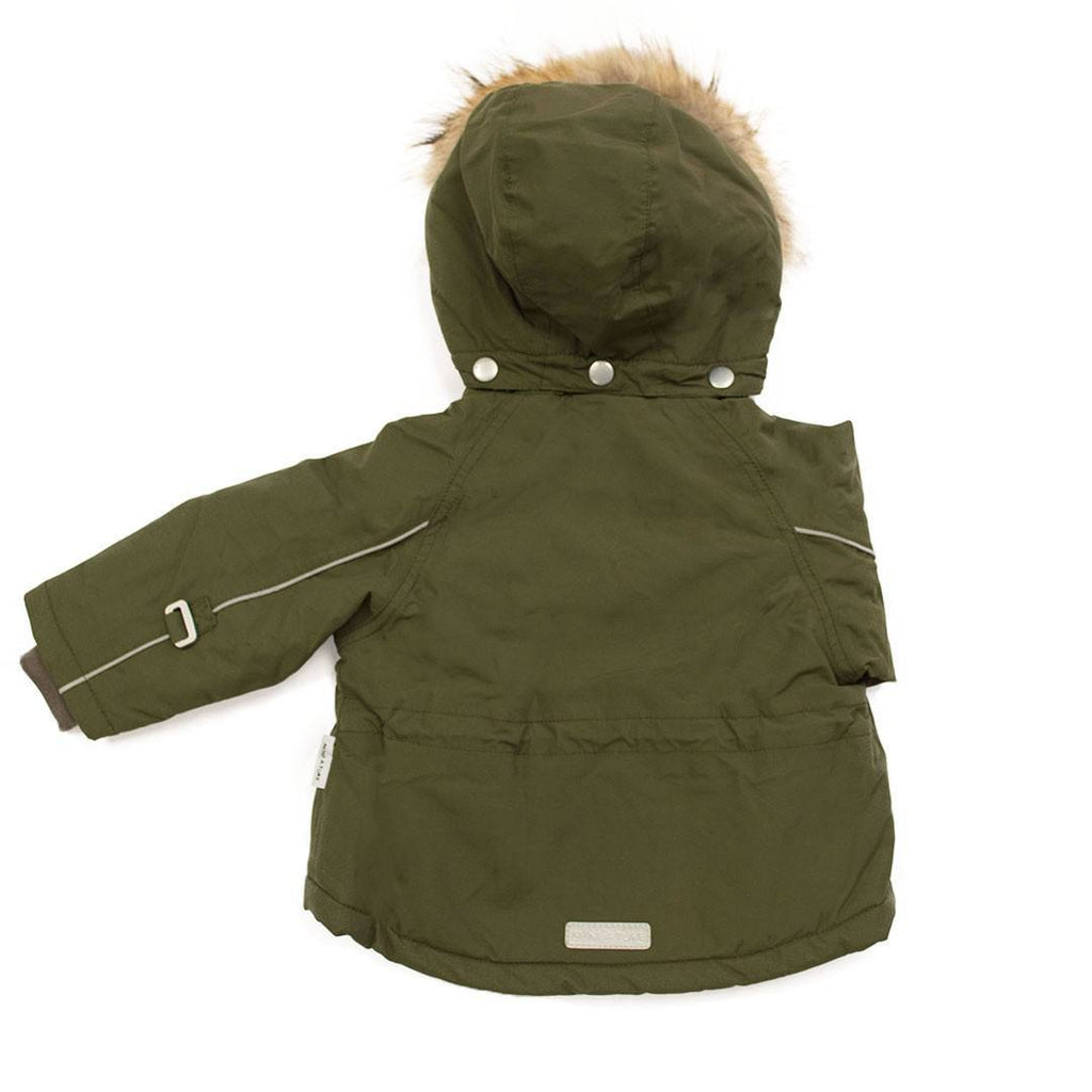 Coats & Snowsuits - MINI A TURE Wally Fur Jacket - Olive Night