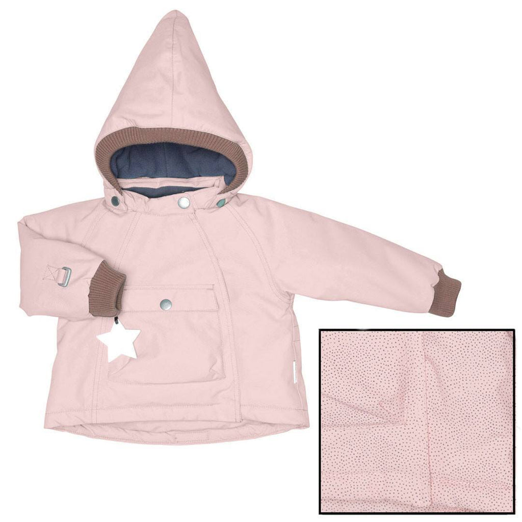 MINI A TURE Wang Jacket - Misty Rose Pindot-Coats & Snowsuits- Natural Baby Shower