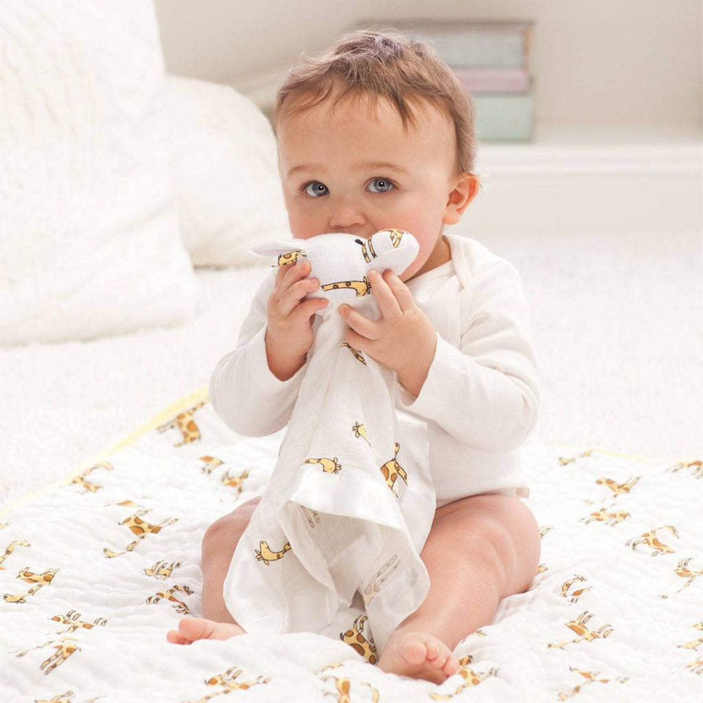 aden + anais Classic Musy Mate Lovey - Giraffe - Jungle Jam - Comforters - Natural Baby Shower