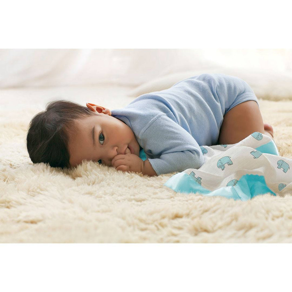 Comforters - Aden & Anais Issie Security Blanket - Jungle Jam Elephant