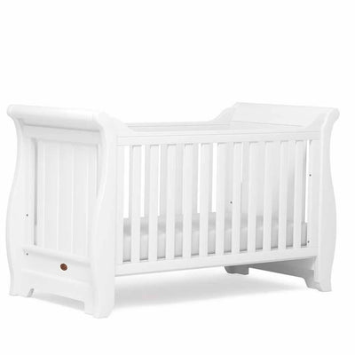 Boori Sleigh Cot Bed - White - Ex-Display-Cot Beds- Natural Baby Shower