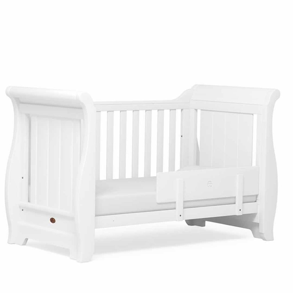 Boori Sleigh Cot Bed - White - Cot Beds - Natural Baby Shower