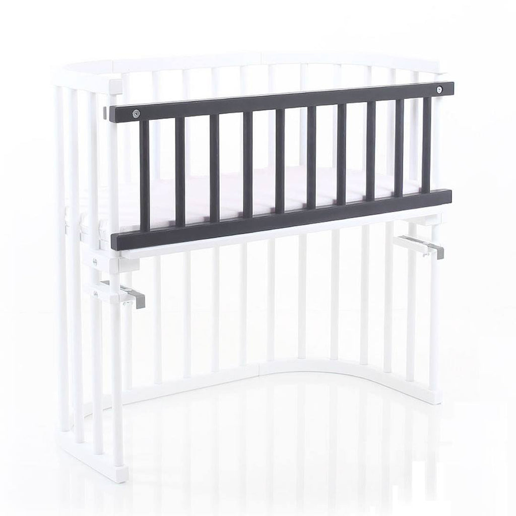 BabyBay Convertible Side Bar - Platinum Grey - Cribs - Natural Baby Shower