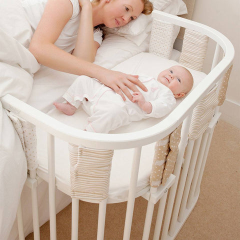 BabyBay Convertible - White-Cribs-Default- Natural Baby Shower