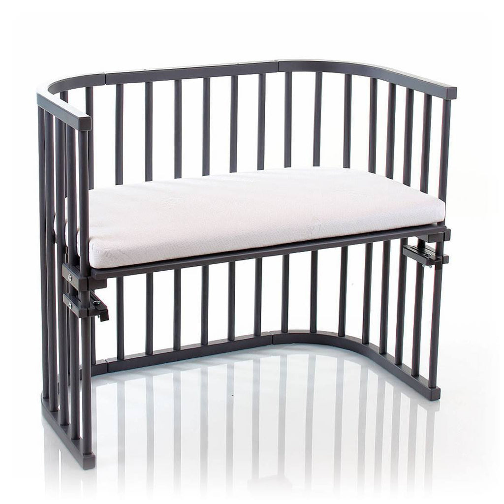 BabyBay Maxi Bedside Crib - Platinum Grey-Cribs-Default- Natural Baby Shower