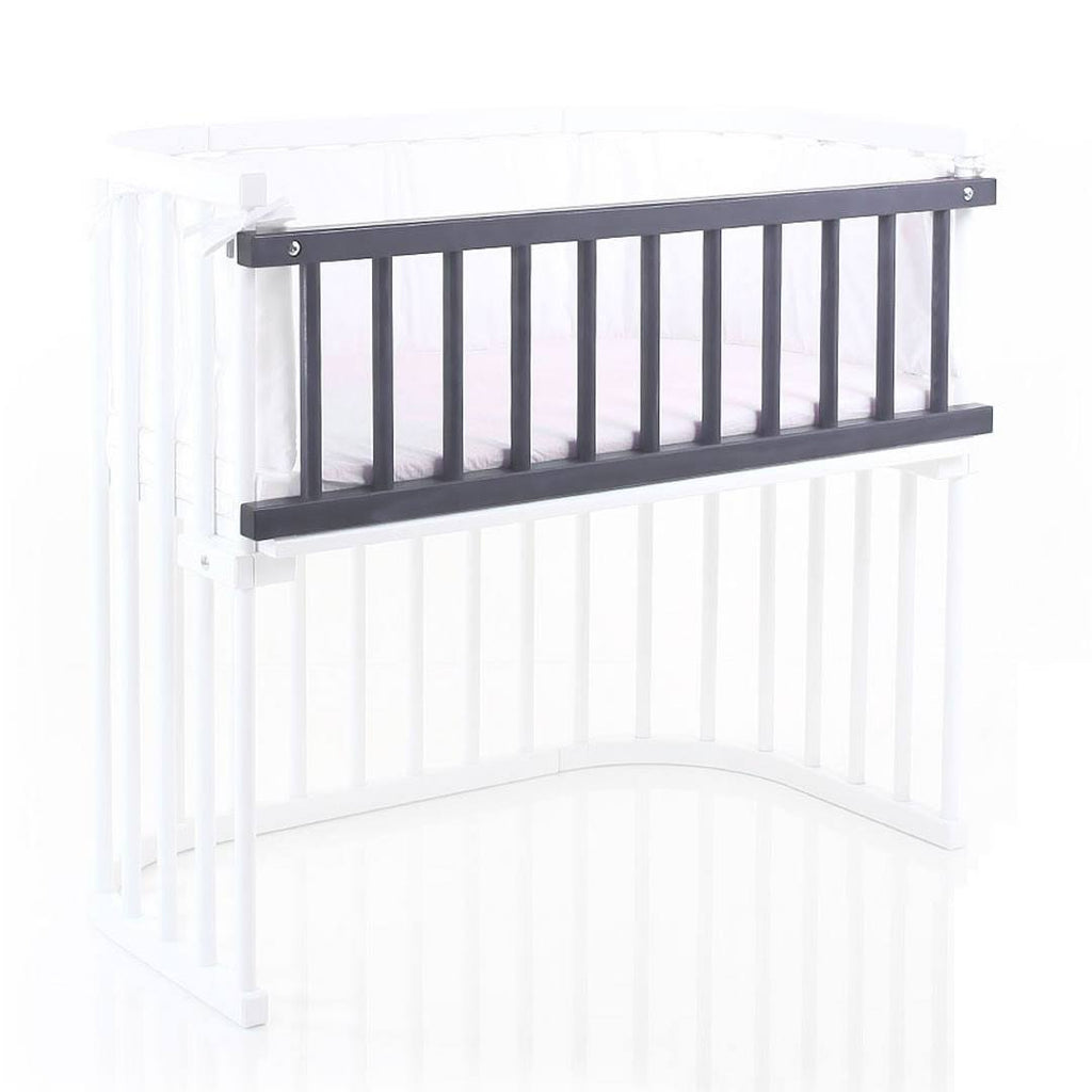 BabyBay Maxi Side Bar - Platinum Grey - Cribs - Natural Baby Shower