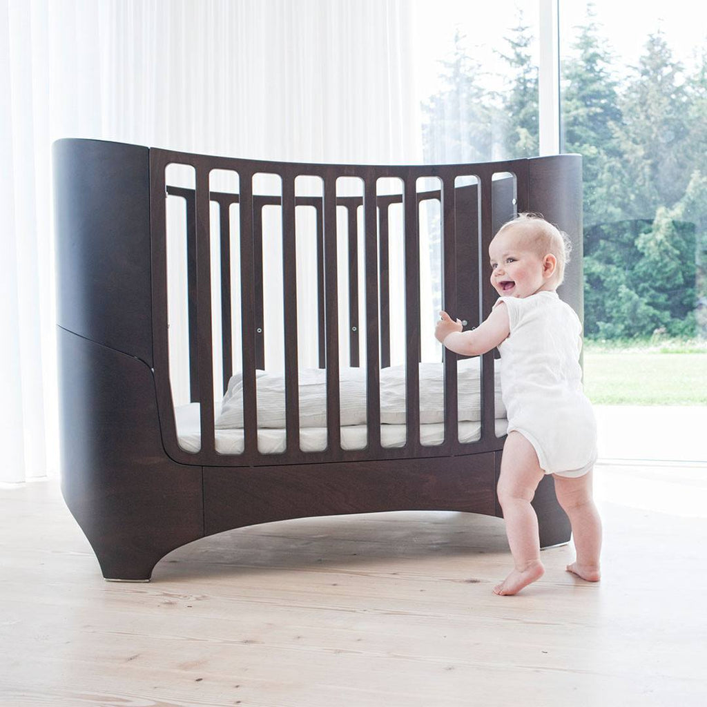 Leander Cot Bed to Junior Bed - Walnut - Cot Beds - Natural Baby Shower