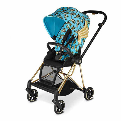 CYBEX Mios Pushchair - Cherub Blue by Jeremy Scott-Strollers-Gold-None- Natural Baby Shower