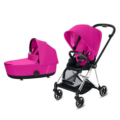 Cybex Mios Pushchair - Fancy Pink-Strollers-Chrome Black-Lux- Natural Baby Shower