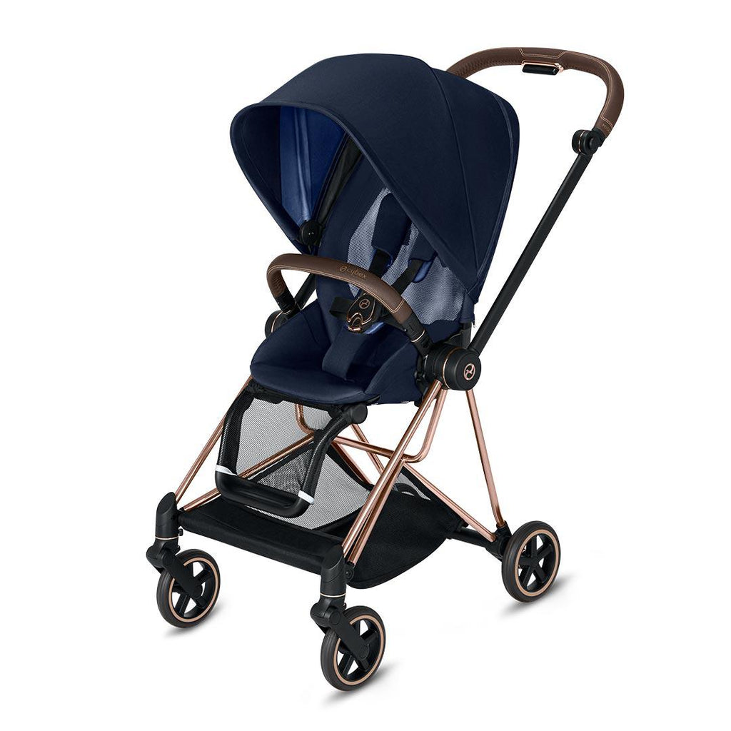 Cybex Mios Pushchair - Indigo Blue-Strollers-Rose Gold-None- Natural Baby Shower