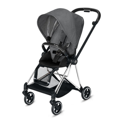 Cybex Mios Pushchair - Manhattan Grey Plus-Strollers-Chrome Black-None- Natural Baby Shower