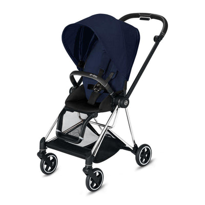 Cybex Mios Pushchair - Midnight Blue Plus-Strollers-Chrome Black-None- Natural Baby Shower