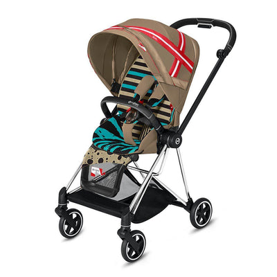 Cybex Mios Pushchair - One Love - Karolina Kurkova-Strollers-Chrome Black-None- Natural Baby Shower