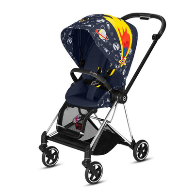 CYBEX Mios Pushchair - Space Rocket-Strollers-Chrome Black-None- Natural Baby Shower