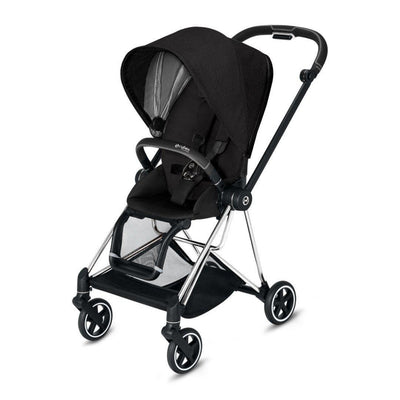 Cybex Mios Pushchair - Stardust Black Plus-Strollers-Chrome Black-None- Natural Baby Shower