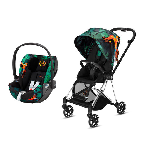 Cybex Mios Travel System - Birds of Paradise-Travel Systems-Chrome Black-None-Cloud Z- Natural Baby Shower