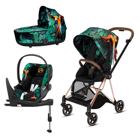 Cybex Mios Travel System - Birds of Paradise-Travel Systems-Rose Gold-Lux-Cloud Z + Base- Natural Baby Shower
