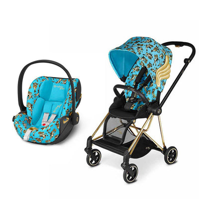 CYBEX Mios Travel System - Cherub Blue by Jeremy Scott-Travel Systems-Gold-None-Cloud Z- Natural Baby Shower