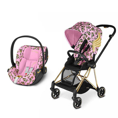 CYBEX Mios Travel System - Cherub Pink by Jeremy Scott-Travel Systems-Gold-None-Cloud Z- Natural Baby Shower