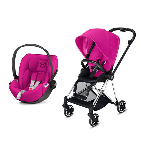 Cybex Mios Travel System - Fancy Pink-Travel Systems-Chrome Black-None-Cloud Z- Natural Baby Shower