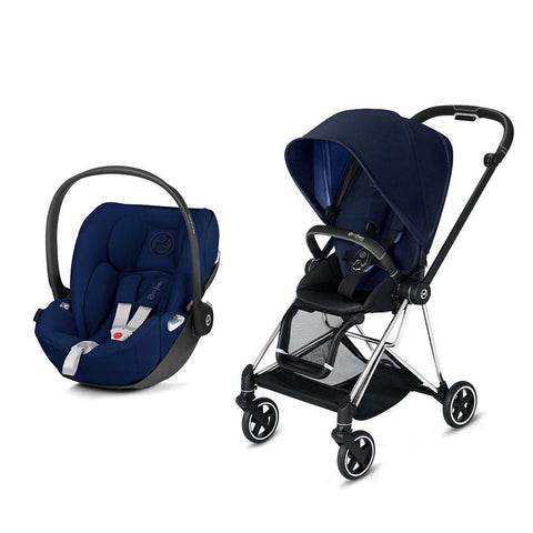 Cybex Mios Travel System - Indigo Blue-Travel Systems-Chrome Black-None-Cloud Z- Natural Baby Shower