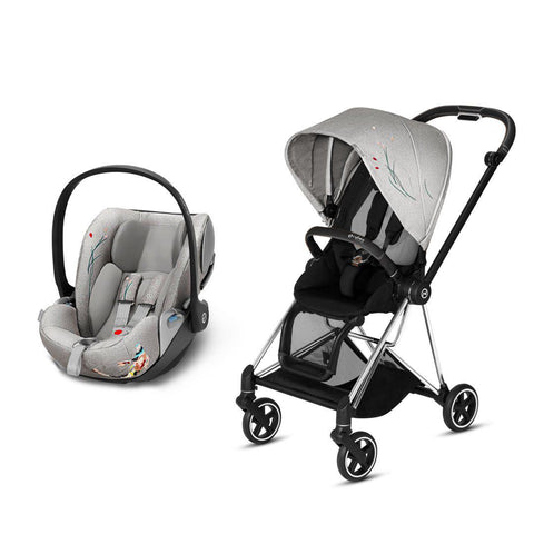 Cybex Mios Travel System - Koi-Travel Systems-Chrome Black-None-Cloud Z- Natural Baby Shower