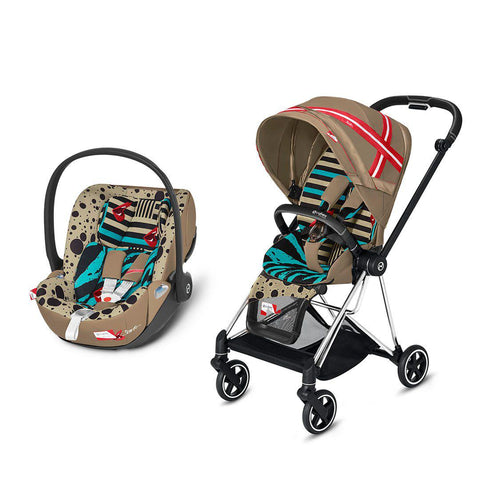 Cybex Mios Travel System - One Love - Karolina Kurkova-Travel Systems-Chrome Black-None-Cloud Z- Natural Baby Shower
