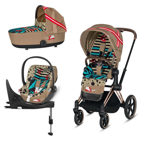 Cybex Mios Travel System - One Love - Karolina Kurkova-Travel Systems-Rose Gold-Lux-Cloud Z + Base- Natural Baby Shower