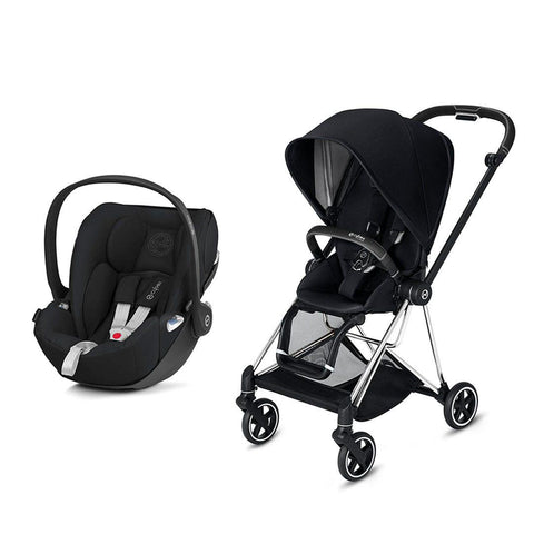 Cybex Mios Travel System - Premium Black-Travel Systems-Chrome Black-None-Cloud Z- Natural Baby Shower