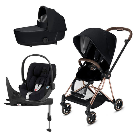 Cybex Mios Travel System - Premium Black-Travel Systems-Rose Gold-Lux-Cloud Z Plus + Base- Natural Baby Shower