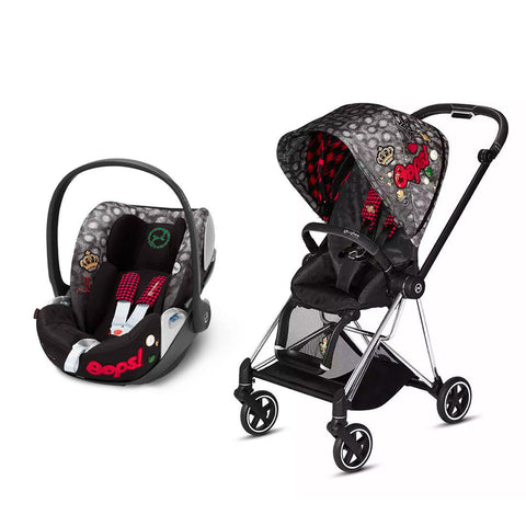 Cybex Mios Travel System - Rebellious-Travel Systems-Chrome Black-None-Cloud Z- Natural Baby Shower