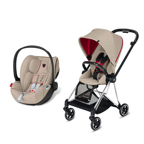 Cybex Mios Travel System - Scuderia Ferrari - Silver Grey-Travel Systems-Chrome Black-None-Cloud Z- Natural Baby Shower