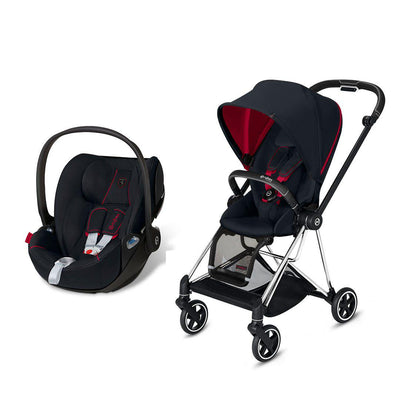 Cybex Mios Travel System - Scuderia Ferrari - Victory Black-Travel Systems-Chrome Black-None-Cloud Z- Natural Baby Shower