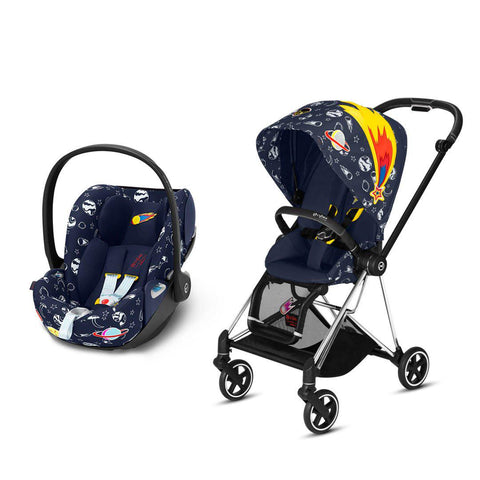 Cybex Mios Travel System - Space Rocket-Travel Systems-Chrome Black-None-Cloud Z- Natural Baby Shower