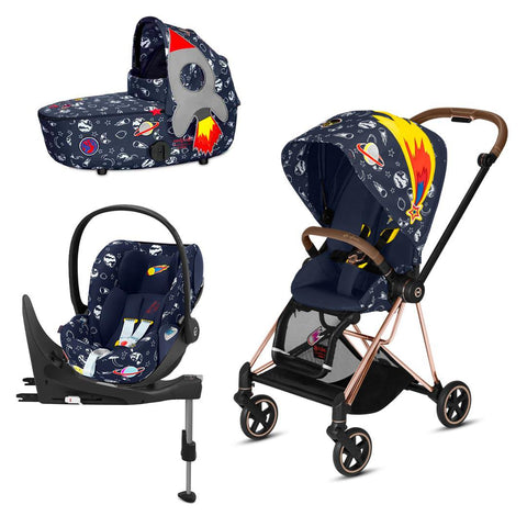 Cybex Mios Travel System - Space Rocket-Travel Systems-Rose Gold-Lux-Cloud Z + Base- Natural Baby Shower