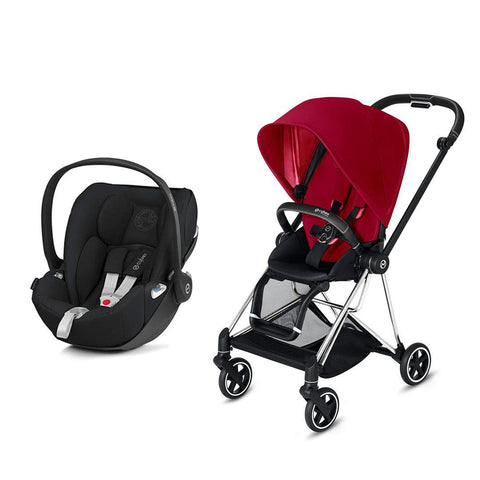 Cybex Mios Travel System - True Red-Travel Systems-Chrome Black-None-Cloud Z- Natural Baby Shower