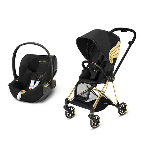 Cybex Mios Travel System - Wings by Jeremy Scott-Travel Systems-Gold-None-Cloud Z- Natural Baby Shower